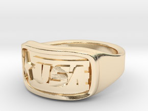 Ring USA 53mm in 14K Yellow Gold