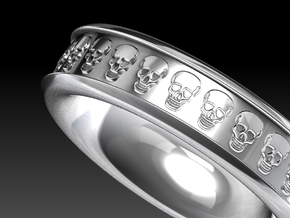 Skull Ring in Black Acrylic