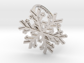 Snowflake Ring 1 d=19.5mm h21d195 in Rhodium Plated Brass