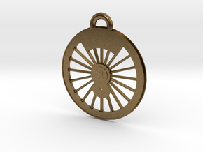 New York Central #999 Driver Necklace in Natural Bronze
