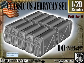 1-20 US Jerrycan TEN UNITS in White Natural Versatile Plastic