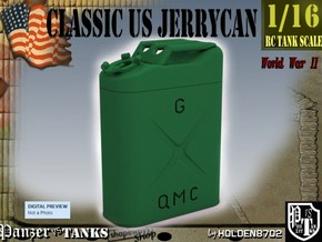 1-16 Jerrycan US Army in Green Strong & Flexible Polished