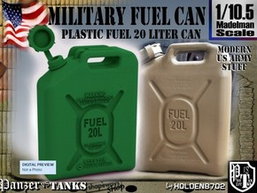 1-10-5 Military Fuel Can in Green Processed Versatile Plastic