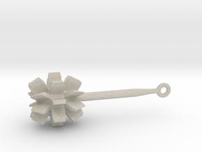 Mace Keychain in Natural Sandstone