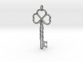 Love Key in Natural Silver