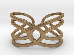 Geometri-K Waves Size 7 Medium in Natural Brass