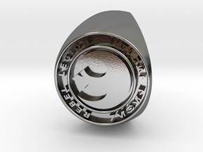 Custom Signet Ring Rebel Legion Size 10.5 in Polished Silver