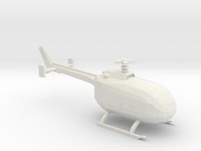 10mm (1/144) MBB Bo 105 in White Natural Versatile Plastic