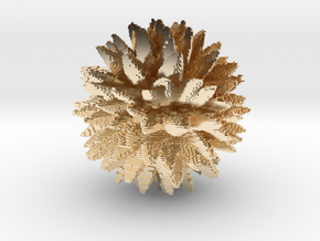 Blocky Low Poly Leafy in 14K Gold