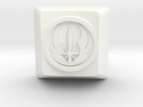 Jedi Order Cherry MX Keycap in White Processed Versatile Plastic