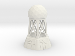 Radar Control Tower (Small Dome) in White Natural Versatile Plastic