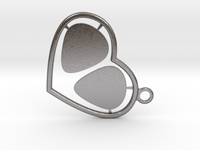 GPick Heart key accessory  in Polished Nickel Steel