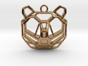 BEAR pendant in Polished Brass