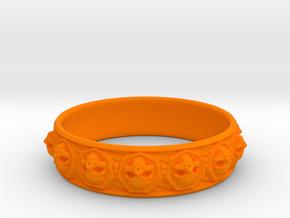 SKULLZ bangle in Orange Processed Versatile Plastic
