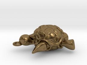 Sea turtle pendant in Natural Bronze