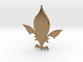 Fleur-de-lys pendant in Natural Brass