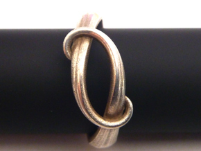 Tentacle Silver Ring in Natural Silver