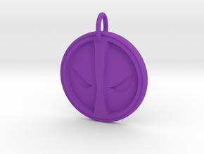 Deadpool Pendant in Purple Processed Versatile Plastic