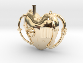 Steampunk Love Pendant in 14K Gold