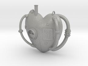 Steampunk Love Pendant in Aluminum