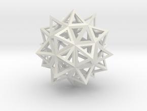 Diamond 3 in White Natural Versatile Plastic