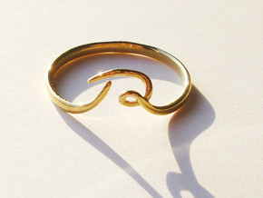 R-loop Ring in Polished Brass