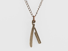 Straight Razor Necklace in Stainless Steel