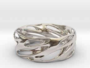 Bracelet Spiral in Rhodium Plated Brass