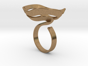 Swirl ring - size 7 in Natural Brass