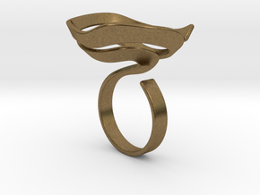 Swirl ring - size 7 in Natural Bronze
