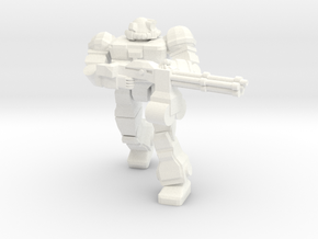 Raider (Viking MKII) With Rotary Cannon in White Processed Versatile Plastic