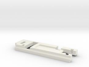 DNA200V1-2MM in White Natural Versatile Plastic
