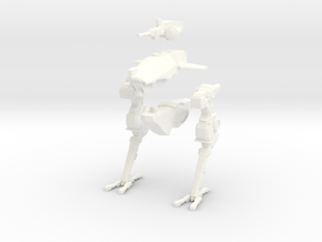 Dorgasb mech - biped variant. 15mm (1/100) in White Strong & Flexible Polished