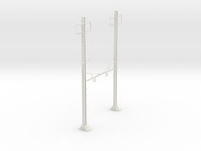 HO Scale PRR K Braced 2 Track 2 phase in White Natural Versatile Plastic