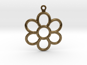 Share Your Smile With Me Sunflower Earrings (Small in Polished Bronze