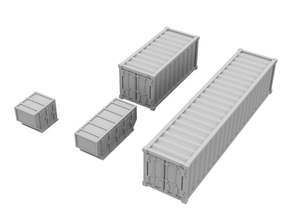 1:400_Containers [x40][A] in Frosted Ultra Detail