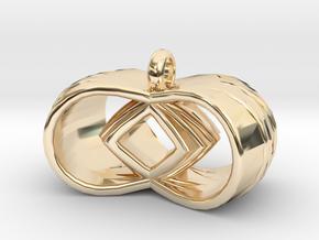Tri-Infinity Diamond Pendant in 14K Yellow Gold