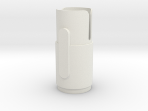 Shroud 4 in White Natural Versatile Plastic