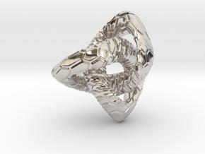 Love Atom , Pendant in Rhodium Plated Brass