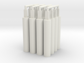 16x Pegs 2.0 in White Natural Versatile Plastic