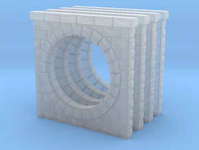 N Scale 4PK PRR Pln 57641 Sm. Circ. Cut Stone Culv in Smooth Fine Detail Plastic