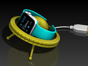Apple Watch Charging Dock - UFO in Yellow Processed Versatile Plastic