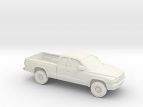 1/87 1997-04 Dodge Dakota Extendet Cab in White Strong & Flexible