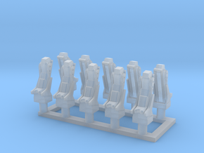 025E Martin-Baker Seats - 1/100 - set of 10 in Smooth Fine Detail Plastic