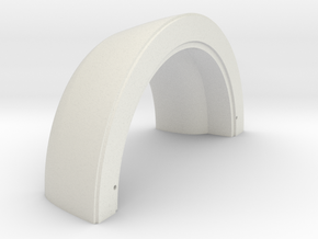 Turbofan Engine Front Intake Cowl  in White Natural Versatile Plastic