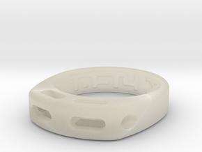 US10 Ring XX: Tritium (Acrylic) in White Acrylic