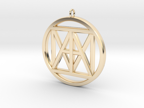 "United ""I AM"" 3D,  3"" Bling size in 14K Yellow Gold"