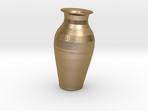 7in tall Replica Kutani Vase in Polished Gold Steel