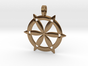 CHISELED SEED OF LIFE in Natural Brass