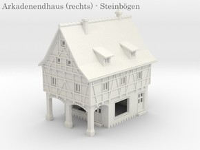 Altstadt Arkadenhaus 4 - 1:220 (Z scale) in White Natural Versatile Plastic